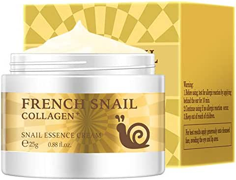 Snail Essence Face Cream Moisturizing Acne Scar Removal Cream Brighten Skin Nourishing Collagen Essence Cream for Repair Damaged Skin