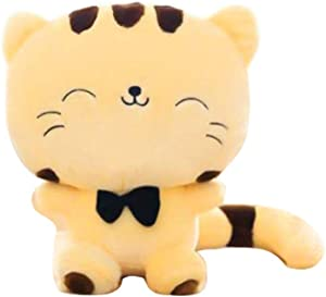 "STONCEL 18"" Soft Stuffed Yellow Cat Plush Toy ,Cute Plush Stuffed Toys ,Cushion Fortune Cat Doll (Yellow Color)"