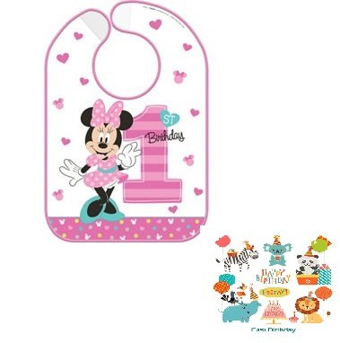 (1st Birthday Minnie Mouse Party Supplies Bib Minnie Fun to be)