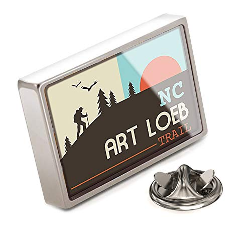 (NEONBLOND Lapel Pin US Hiking Trails Art Loeb Trail - North Carolina)