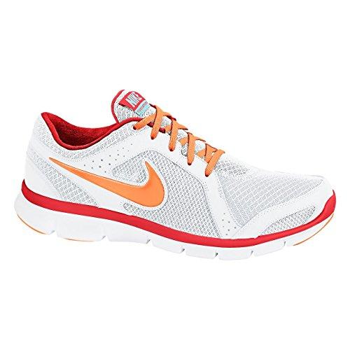 Nike - Zapatillas de running para mujer blanco y naranja