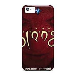 AnnaDubois Apple Iphone 5c Shock Absorption Hard Phone Cover Customized Lifelike Def Leppard Band Pattern [DOp1414ZTRk]