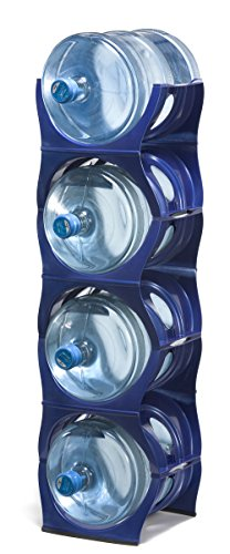U Water Cooler Bottle Rack (Blue, Four Bottle Rack) by Birando
