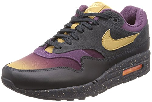 Nike Men's Air Max 1 Premium Gymnastics Shoes, Grey (Anthracite/Elemental Gold/Pro 002), 9.5 UK (Cheap Nike Air Max For Sale Uk)