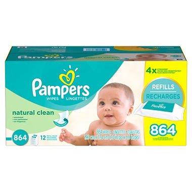 Pampers Natural Clean Baby Wipes - 864 Count by Pampers
