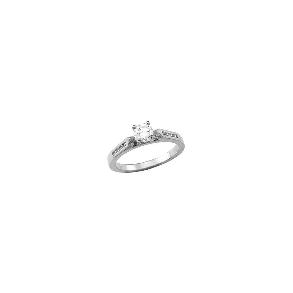 Beautiful White gold 14K Whitegold SemiSet Engagement Ring