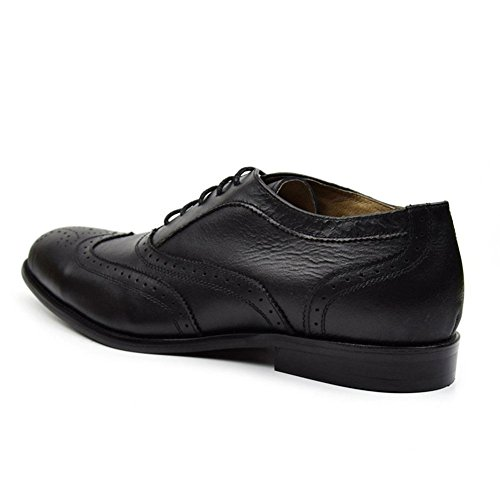 Bullock Atmungsaktiv Herren Leder Business Passt Die Pack Wingtip Oxford Black