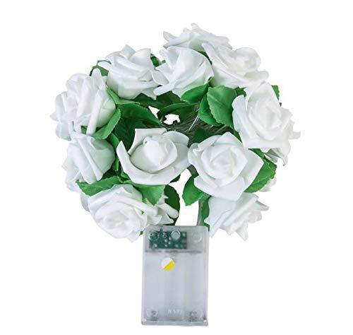 Rose Flower String Luces de hadas a batería Boda Inicio ...