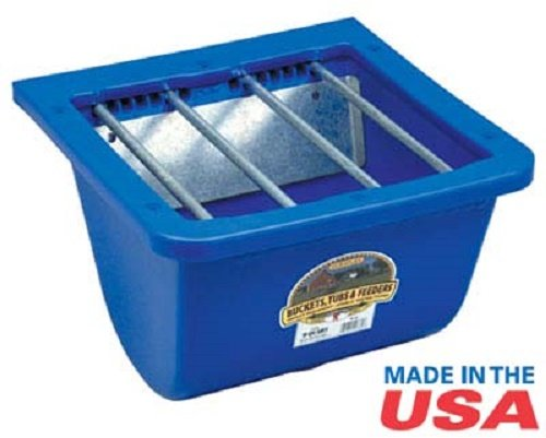 (Miller Little Giant Blue Foal Feeder with Adjustable Bar Selection That Keeps Mares Out While Allowing Foals Easy Acces)