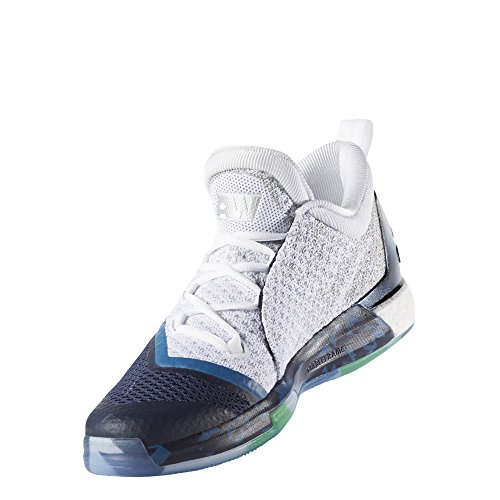988918345e8 ... wholesale adidas performance mens crazylight boost 2.5 low basketball  shoe metallic white silver white capital blue