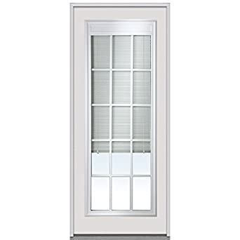 National Door Company Z022492r Entry Door Prehung Right Hand Internal Mini Blinds With Muntins