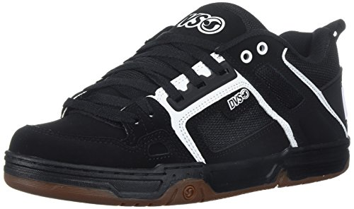 DVS Men's Comanche Skate Shoe, Black/White Gum Nubuck, 9 Medium US