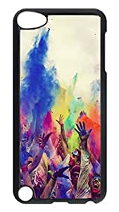Brian114 Case, iPod Touch 5 Case, iPod Touch 5th Case Cover, Friends Happy Colors Retro Protective Hard PC Back Case for iPod Touch 5 ( Black )