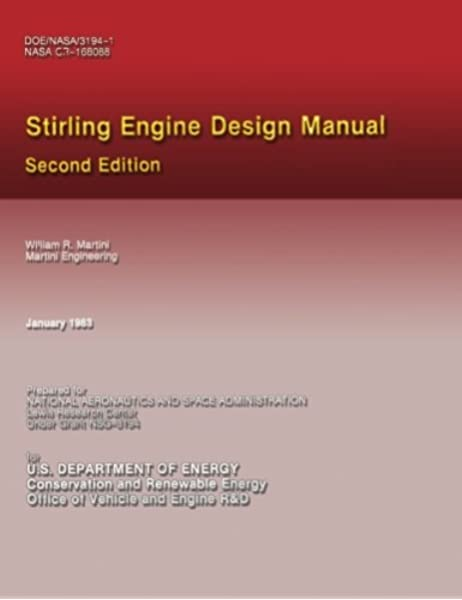 Amazon Com Stirling Engine Design Manual 9781482063035 Martini William R Books
