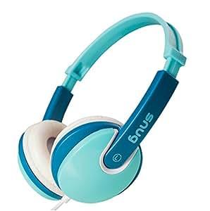 Snug Plug n Play Kids Headphones for Children DJ Style (Turquoise)
