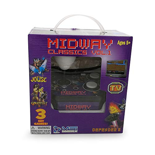Midway Classics Arcade TV Plug & Play Game with 3 hit Games Joust Defender Gauntlet