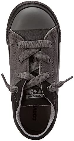 Converse Chuck Taylor All Star High Street Slip Fashion Sneaker Shoe (4 Toddler M, Black/Thunder)