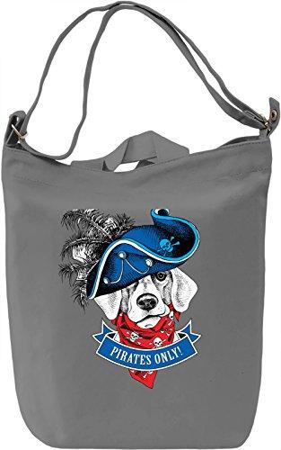 Pirate Dog Borsa Giornaliera Canvas Canvas Day Bag| 100% Premium Cotton Canvas| DTG Printing|