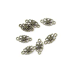 10 pieces Anti-Brass Fashion Jewelry Making Charms 2771 Lucky Connector Wholesale Supplies Pendant Craft DIY Vintage Alloys Necklace Bulk Supply Findings Loose