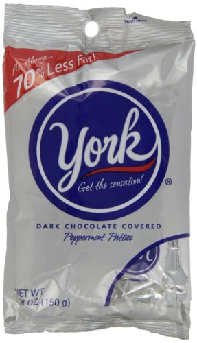 York Peppermint Patties Dark Chocolate Covered Mint Candy, 5.3 Ounce (Pack of 12)