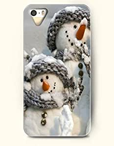OOFIT iPhone 5 5s Case - Two Snowman Sisters
