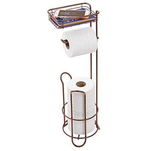 mDesign Standing Toilet Dispenser Bathroom