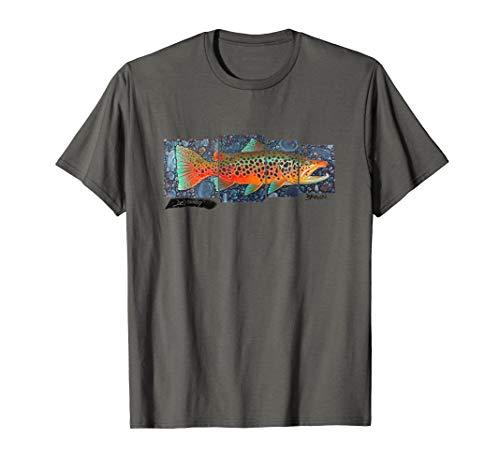 Brown Trout Fish Art T-Shirt Derek DeYoung Fisherman Gift
