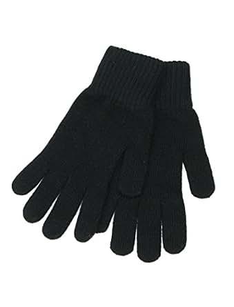 Black Wool Gloves for Women - Ladies winter gloves - Wooly
