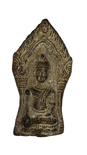 San Magic Buddha statue Asian Art and Thai Vintage Antique Beautiful Interesting Thai Gift Phra Nakprok Kru Na Doon- Nuea Pra (Wealth Amulets) by San Miracle