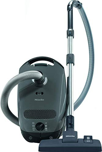 Miele Grey Classic C1 Pure Suction Canister Vacuum Cleaner, Graphite +SBD 285-3 Pure Suction+Combination Floorhead, Dusting Brush, Upholstery Tool, Crevice Tool+ Manufacturer's Warranty