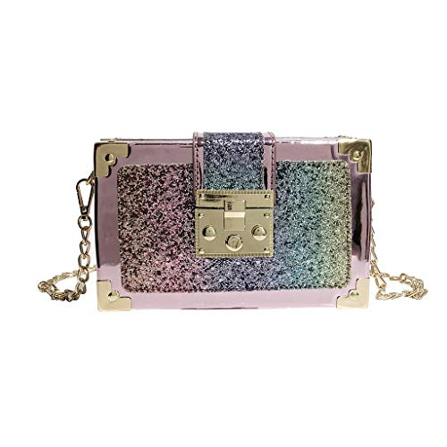 - Purse Small Bag Women Sparkly Sequin Chain Tote Handbag Clutch Girl Exquisite Shoulder Crossbody Bag Memela (Multicolor)