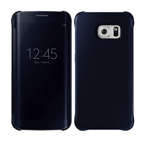 Caja protectora de telefono - SODIAL(R)Cubierta protectora de caja delgada de telefono transparente y de color azul oscuro para Samsung Galaxy S6 Edge Plus