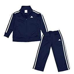 Adidas Little Boys\' Itb Iconic Tricot Set, Navy, 5
