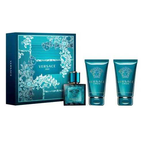 Versace Eros Set for Men: 1.7 EDT, 1.7 BSG, 1.7 ASB by Versace