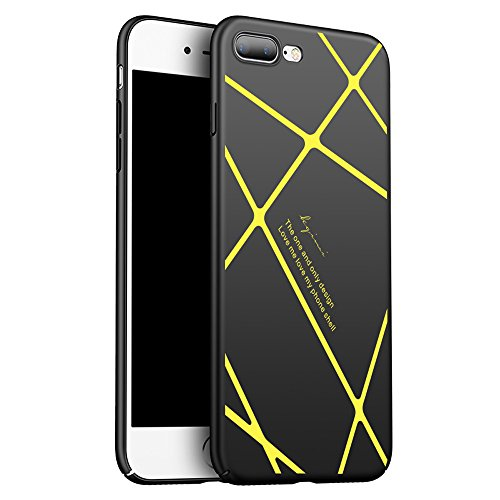 Iphone 7/ 8 case,Classic yellow line characters black fashion matte hard phone case wole machine protection fit for Iphone - Polaris Fashion