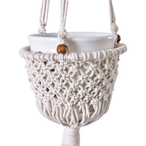 Naisicatar Les Plantes de Chanvre Accessoires Corde de Coton Corde Suspendu Orchid Flowerpot Net Sac Suspendu Corde tress/ée Mesh Sac d/écoration de Jardin