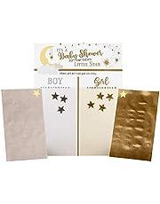 Lillian Rose Twinkle Themed Baby Shower Gender Reveal Voting Board, Gold