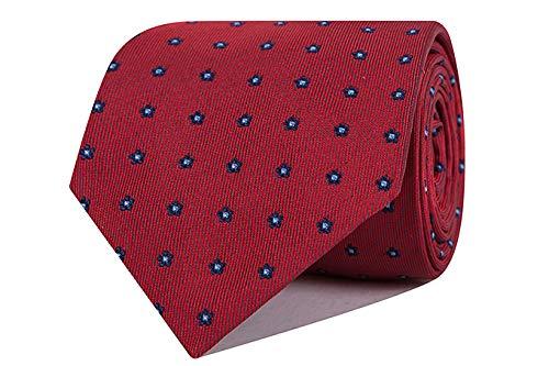 SoloGemelos - Corbata De Seda Roja Con Flores - Azul, Rojo ...