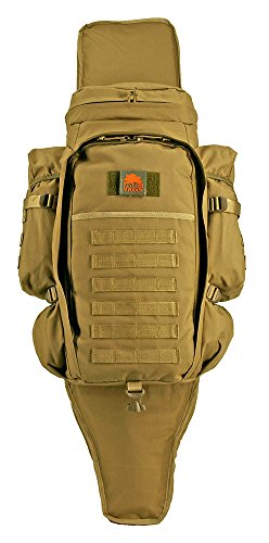 Waist Belt Production Pack - Lost Woods 9.11 Tactical Full Gear Rifle Backpack - Black (Desert Tan)