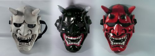 Japanese Hannya Evil Airsoft Mask and Prop Mask '' Kabuki Collection'' by Air softmask Kabuki
