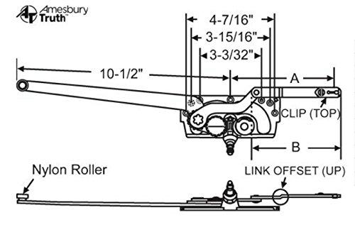 Truth Entrygard Casement Dual Arm Operator 36-174 Opposite -
