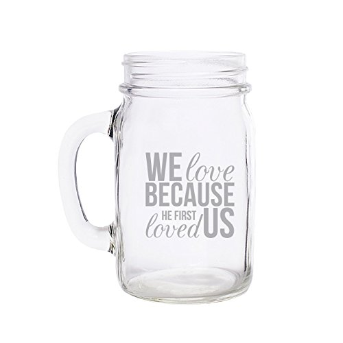 we love engraved mason jar mug set of 60 kitchen products