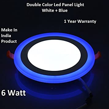 Buy centuro 6w led round panel light ceiling pop down indoor light buy centuro 6w led round panel light ceiling pop down indoor light led 3d effect lighting double color online at low prices in india amazon mozeypictures Gallery