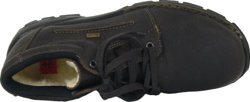 Rieker - Botas de material sintético para hombre marrón marrón oscuro 43