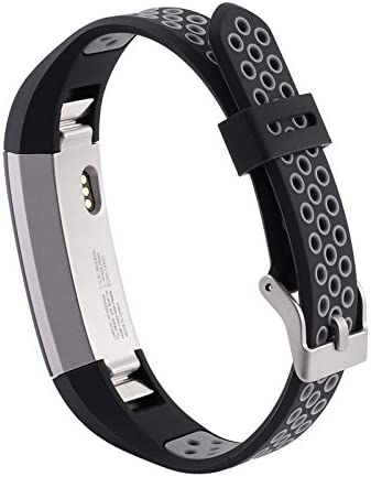 [해외]SHEAWA Fitbit Alta HRFitbit Alta 밴드 벨트 스포츠 밴드 실리콘 땀에 강한 6 색 (블랙 + 그레이) / SHEAWA Fitbit Alta HRFitbit Alta Band Belt Sports Band Silicon Sweat Resistant 6 Colors (Black + Grey)