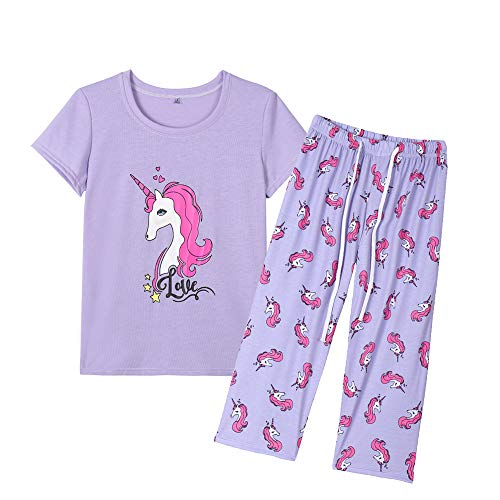 - YIJIU Womens Pajama Set Cute Horse Short Sleeve Top and Pants Sleepwear Pjs Set