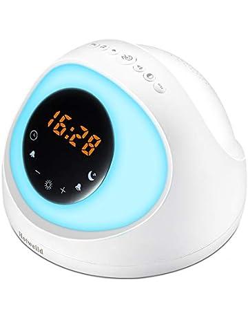 Wooden Led Digital Alarm Clock Usb & Battery Temperature Sounds Control Clock Modern Led Display Desktop Digital Table Clocks Alarm Clocks