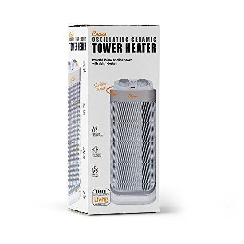 Crane Oscillating Mini Tower Heater 16 Inch Space