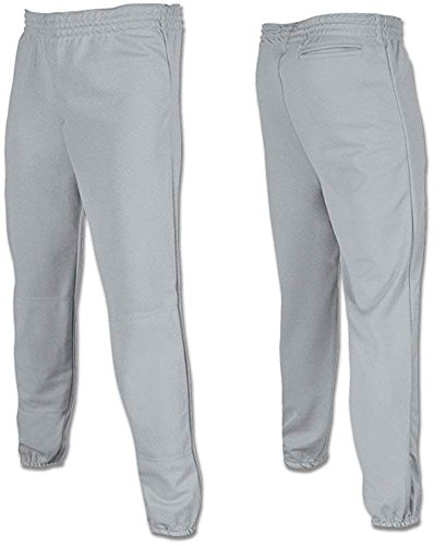 Joe's USA - Youth Baseball Softball Pull Up Pants T-Ball-Grey-XXS