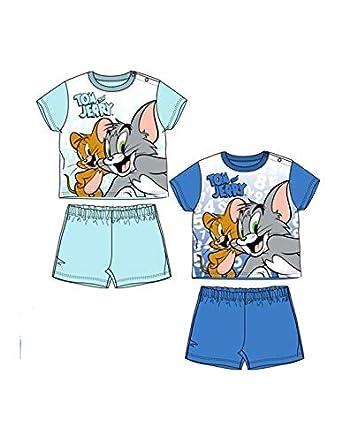 ea194535c0458 Tom et Jerry Pyjama Court bébé garçon Bleu de 9 à 24mois - Bleu, 9 ...